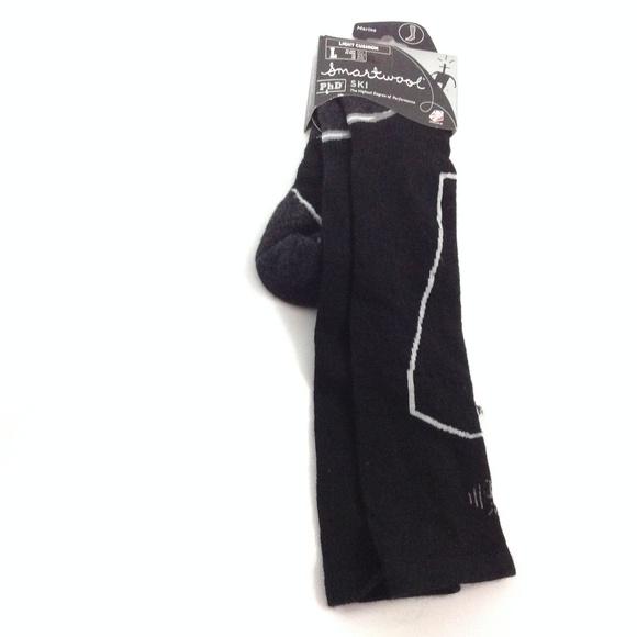 Smartwool PhD Ski Men's Socks Merino Wool Black NWT